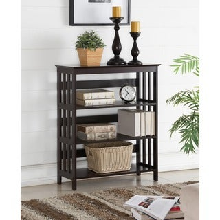 Aix Espresso Finish Wooden 3 Shelves Bookcase