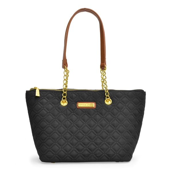 Adrienne Vittadini Quilted Mini East West tote
