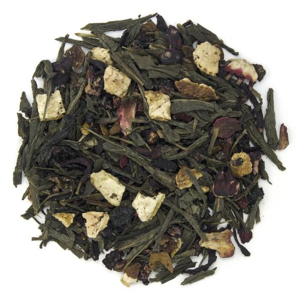 Teas Etc Blueberry Hibiscus 16-ounce Loose Leaf Green Tea