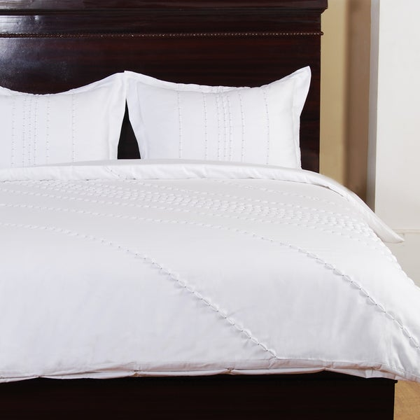 Anna White 3 Piece Cotton Duvet Set