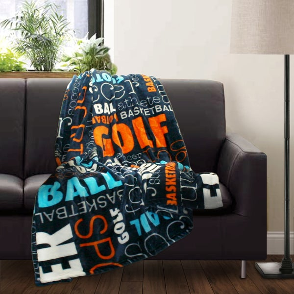 Lush Decor Sports Fleece Throw
