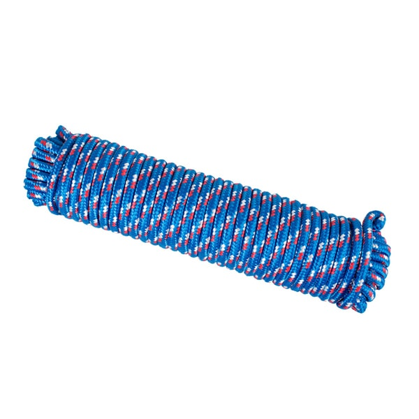 Wasons 3/8 in x 100 ft Diamond Braid Polypropylene Rope -Blue Multicolor