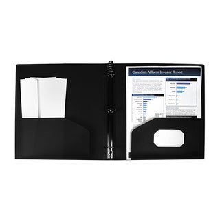 Storex Poly Binder with Pockets 1-Inch