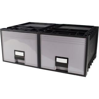 Plastic Archive Storage Box Letter/ Legal 18-Inch Depth