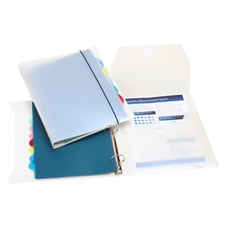 Organizer Binder With 5 Tab Dividers 1-inch