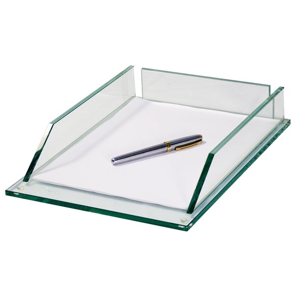 Storex Glass Letter Tray