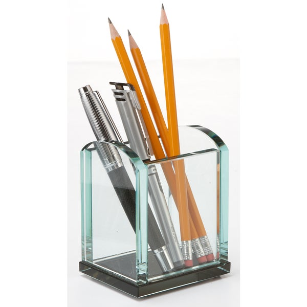 Storex Glass Pencil Cup (Case of 4)