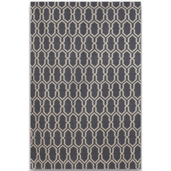 Sonora Dove Grey Flat-weave Rug (8' x 10')