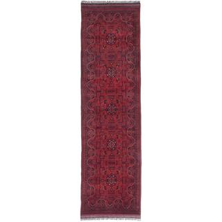 ecarpetgallery Finest Khal Mohammadi Red Wool Rug (2' x 10')