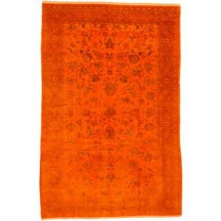 ecarpetgallery Color Transition Orange Wool Rug (6' x 10')