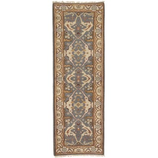 ecarpetgallery Royal Ushak Grey Oriental Wool Rug (2' x 7')