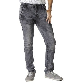 The United Freedom Men's Black Fashion Stretch Skinny Fit Denim