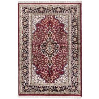 ecarpetgallery Kashmir Red Silk Rug (4' x 7')