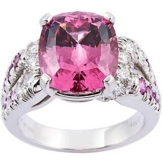 Kurt Wayne 2/5ct TDW Diamond, Pink Spinel, Sapphire Ring (F-G, VS1-VS2)