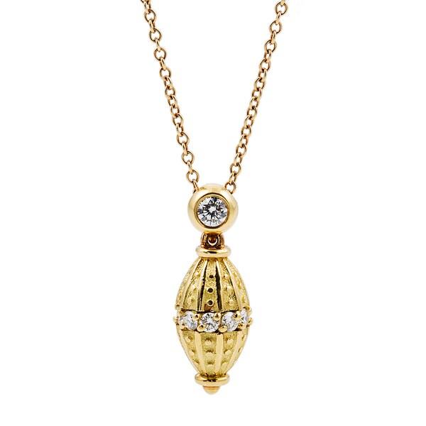 Kurt Wayne 18k Yellow Gold 2/5ct TDW Diamond Pendant (F-G, VS1-VS2)