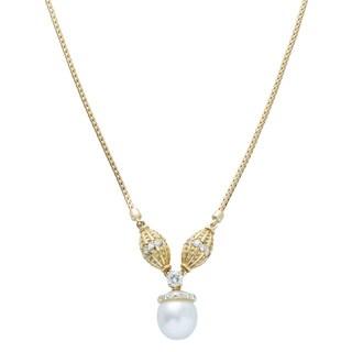 Kurt Wayne South Sea Pearl and 4/5ct TDW Diamond Necklace