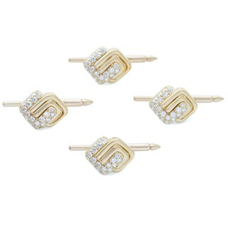 Kurt Wayne 18k Yellow Gold Men's 1 1/2ct TDW Diamond Dress Set