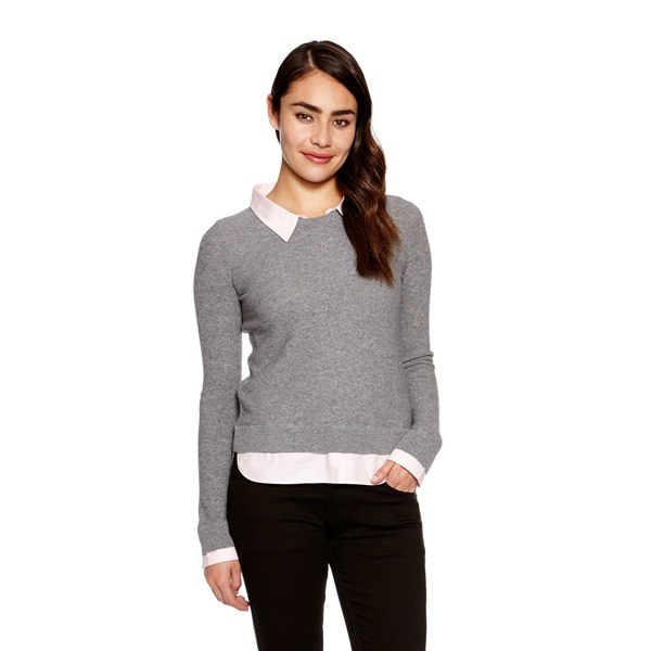 Joie Women's Rika Sweater with Shirt Collar