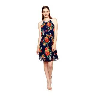 Joie Women's Makana Silk Floral Print Halter Dress