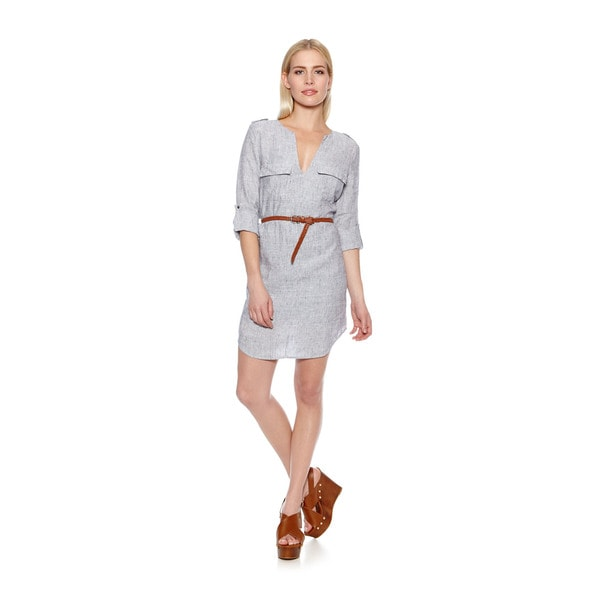 Joie Women's Rathana Linen Shirt Dress with Belt