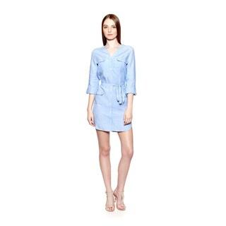 Joie Women's Linen Sovin B 3/4 Sleeve Shirt Dress
