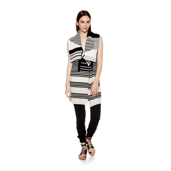 Vince Women's Graphic Stripe Drape Sweater Vest