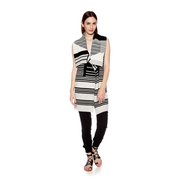 Vince Women's Graphic Stripe Drape Sweater Vest