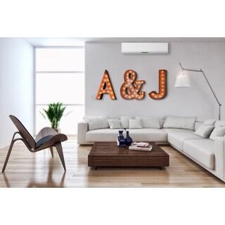 Indoor/ Outdoor Rusted Steel and Symbol Marquee Light