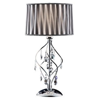 Journee Home 'Deluxe' 30 in. Modern Crystal Table Lamp