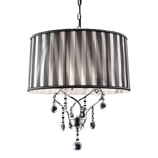 Journee Home 'Deluxe' 20 in. Modern Crystal Ceiling Lamp