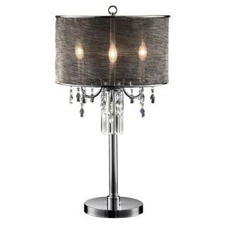 Journee Home 'Dusk' 32 in. Modern Dangle Crystal Table Lamp