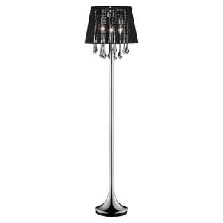 Journee Home 'Dusk' 63 in. Modern Dangle Crystal Floor Lamp