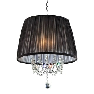 Journee Home 'Midnight' 17 in. Pleated Drum Shade Ceiling Lamp