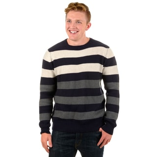 Vance Co. Men's Striped Ribbed Sweater