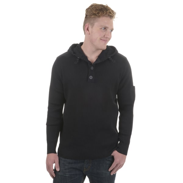 Vance Co. Men's Hooded Ribbed Sweater