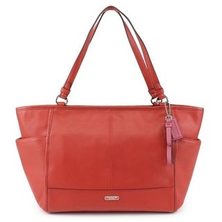 Coach Park Leather Carryall Tote Shoulder Bag