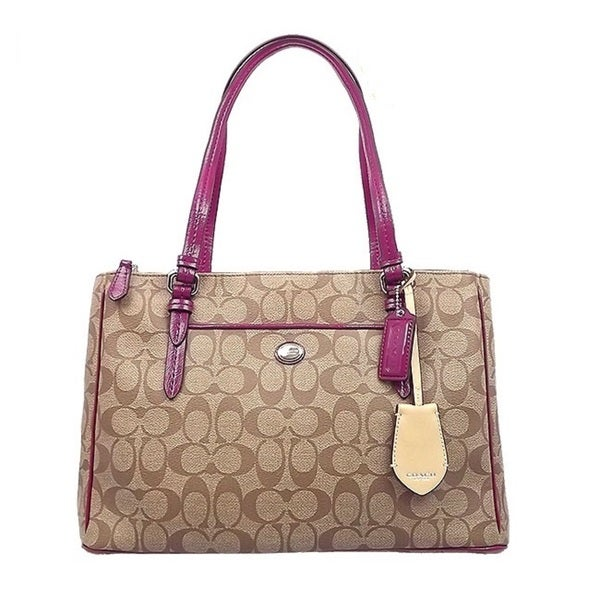 Coach Peyton Signature Jordan Double Zip Carryall