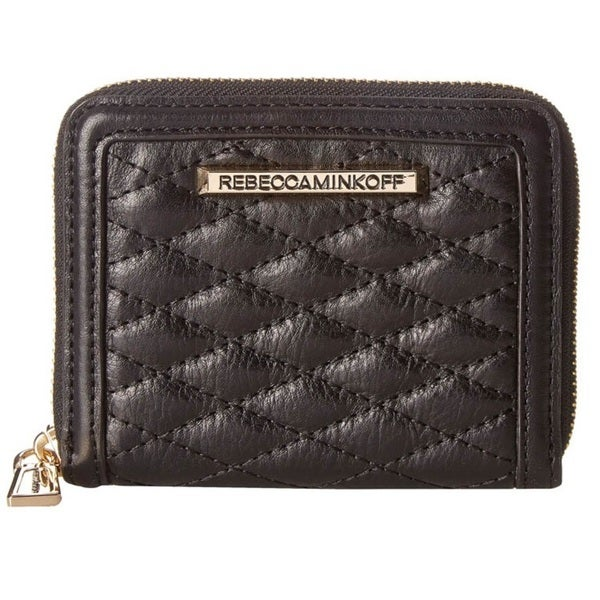 Rebecca Minkoff Quilted Mini Ava Zip Wallet - Black