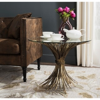 Safavieh Ayris Antique Gold Leaf Accent Table