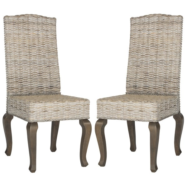 Safavieh Milos White Washed Dining Chairs (Set of 2)