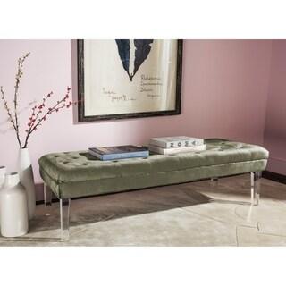 Safavieh Abrosia Grey Acrylic Leg Bench