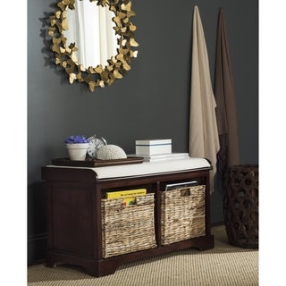 Safavieh Freddy Cherry Wicker Storage Bench