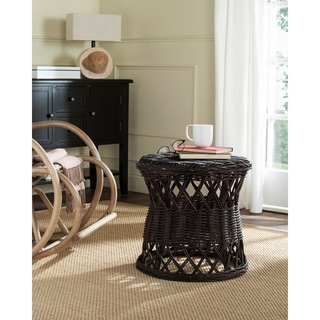 Safavieh Desta Brown Rattan Round Table
