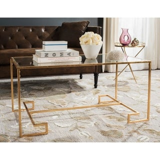Safavieh Burton Antique Gold Leaf Coffee Table