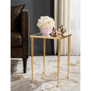 Safavieh Nyacko Antique Gold Leaf End Table