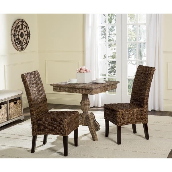 Safavieh Avita Brown Dining Chairs (Set of 2)