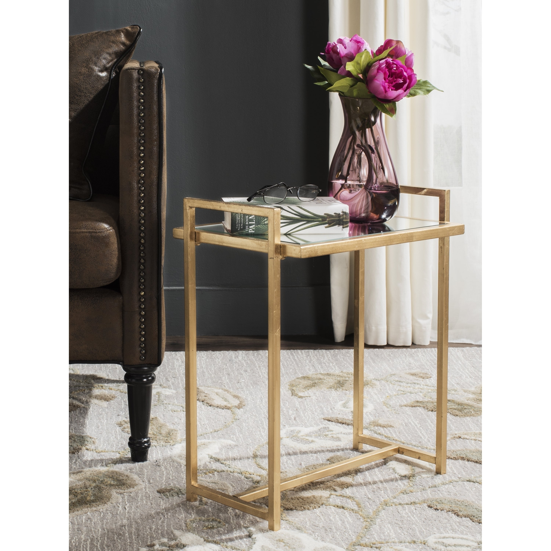 safavieh renly antique gold leaf end table