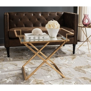 Safavieh Pierre Antique Gold Leaf Accent Table