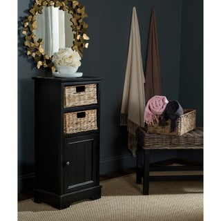 Safavieh Connery Distressed Black Storage Cabinet