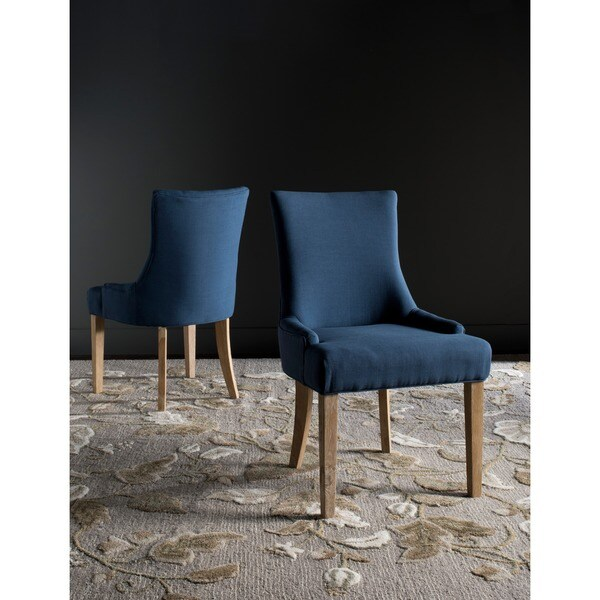 Safavieh Lester Steel Blue Dining Chairs (Set of 2)